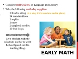 Early Childhood Education A Unit 2 day 6 Power point Math