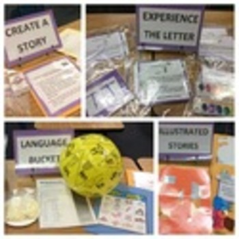 Early Childhood Education A Unit 2 day 4 center activity cards English Language