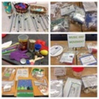 Early Childhood Education A Unit 2 day 1 center activity cards The Arts