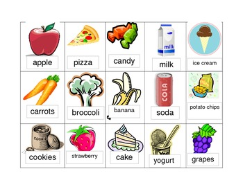 Early Childhood Healthy and Unhealthy Food Sort