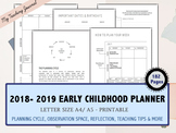 Early Childhood Teacher Planner 2018 July - 2019 June Printable PDF