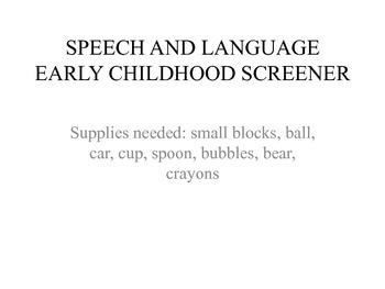 Early Childhood Language Screener