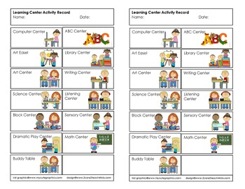 Early Childhood Learning Center Activity Record