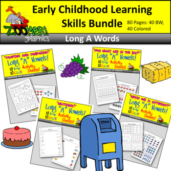 Early Childhood Learning Skills Bundle - Long A Words
