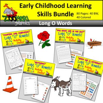 Early Childhood Learning Skills Bundle - Long O Words