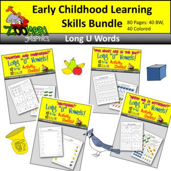 Early Childhood Learning Skills Bundle - Long U Words