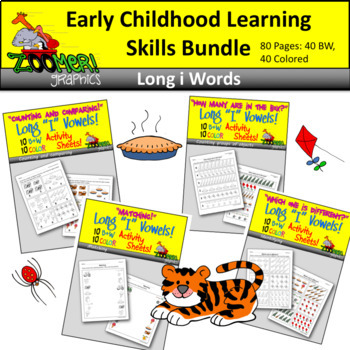 Early Childhood Learning Skills Bundle - Long i Words