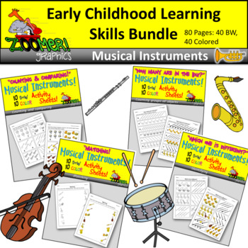 Early Childhood Learning Skills Bundle - Musical Theme