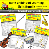 Early Childhood Learning Skills Bundle - Musical Theme