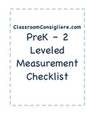 Mastery based Measurement and data checklist report card for ECE
