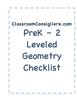 Mastery based geometry checklist report card for ECE