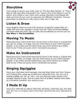 Early Childhood Music Activities to Send Home for Distance Learning - FREE