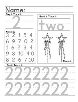 Early Childhood Number Handwriting Pages (0-10)