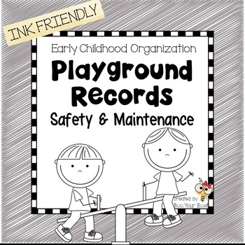 Preschool Organization Binder - Playground Records INK FRIENDLY