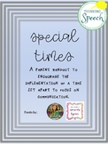 Early Childhood Parent Handout Special Times 21 Day Challenge