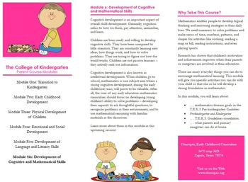 P.T.A. and P.T.O. Early Childhood Parental Workshop Pack (Six Workshops)