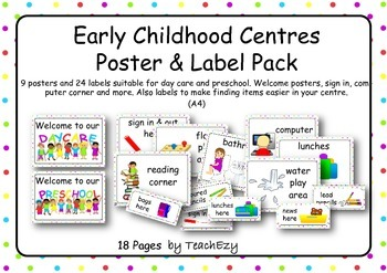 Early Childhood Poster and Label Pack