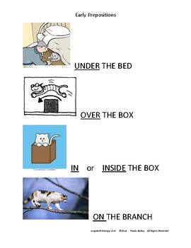 Childhood Language Early Prepositions