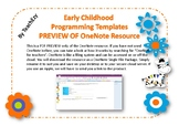 Early Childhood Programming Template Australia OneNote