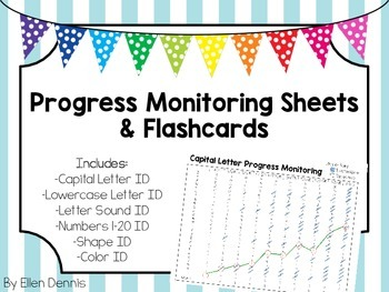 Early Childhood Progress Monitoring Sheets and Flashcards