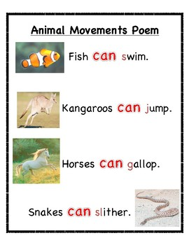 "Early Childhood Shared Reading ""Animal Movements"""