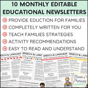 Early Intervention & Preschool Speech/Language Parent Newsletter