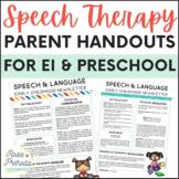 EI & Preschool Monthly Speech Newsletter for Parents
