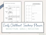 Early Childhood Teacher Planner (Undated) Printable PDF