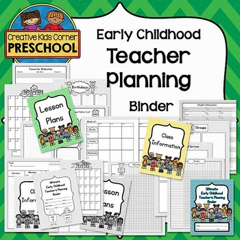 Early Childhood Teacher Planning Binder