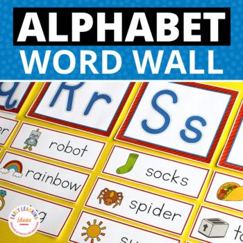 Word Wall Cards & ABC Headers for Preschool & Kindergarten | Alphabet Word Cards