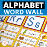 Preschool Pre-k and Kindergarten Word Wall Cards and ABC H