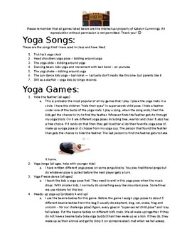 Early Childhood Yoga Games and Songs