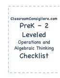 Mastery based Operations and Algebraic Thinking checklist