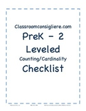 Mastery based counting and cardinality checklist report card for ECE