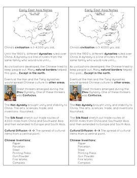 Early China Notes and Powerpoint