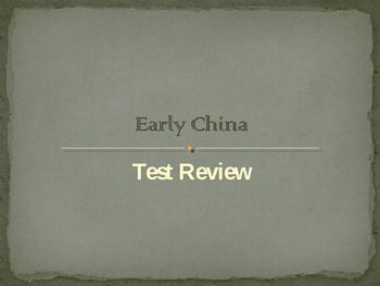 Early China Test Review Powerpoint