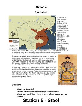 Early Chinese Civilization Stations
