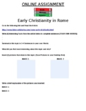 Early Christianity in Rome Online Assignment