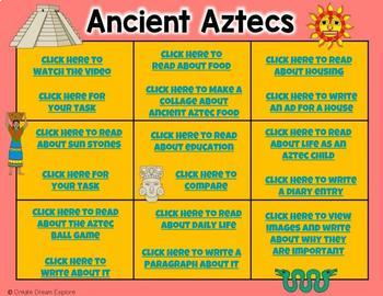 Early Civilizations Ancient Aztecs Google Digital Resource and HyperLinked Doc