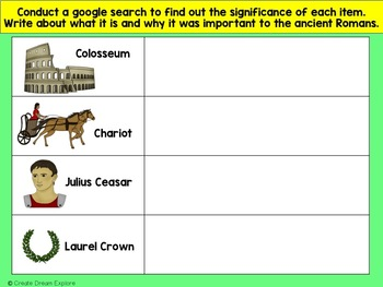 Ancient Civilizations Ancient Rome Google Digital Resource and HyperLinked Doc