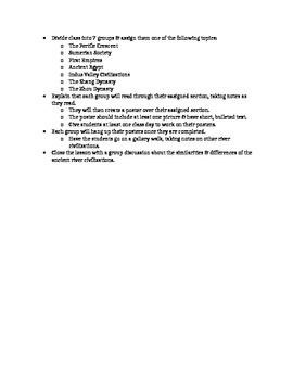 Early Civilizations Lesson Plan