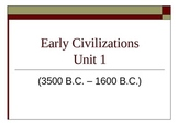 Early Civilizations Power Point