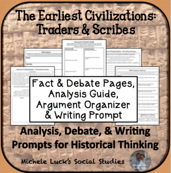 Early Civilizations Traders & Scribes Debate Historical Thinking Activity