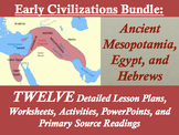 Early Civilizations Unit Bundle: Mesopotamia, Egypt, and Hebrews; 88 pages!