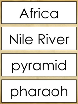 Early Civilizations Vocabulary Word Wall