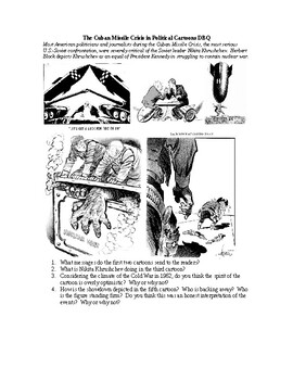 Cold War Cartoons Worksheets Teaching Resources Tpt