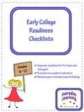 Early College Readiness Checklists
