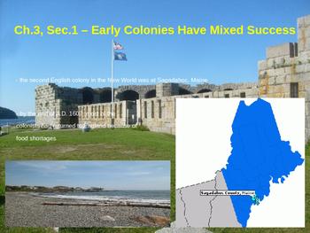 Early Colonies Have Mixed Success - Roanoke, Jamestown, Sagadahoc