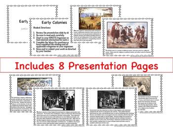 Early Colonies SPRITE Google Drive Interactive Lesson