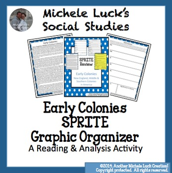 Early Colonies SPRITE Social Studies Graphic Organizer